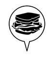 sandwich pictogram icon image vector image