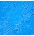 Windshield crack vector image