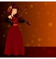 glamorous female singer in dress vector image