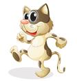 A cat walking vector image vector image
