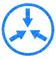 collide arrows rounded grainy icon vector image