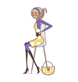 chair sitting woman vector image vector image