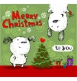 Merry Christmas greetings vector image vector image