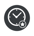 Monochrome round best time icon vector image