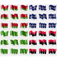 Belarus Nauru Ladonia UPA Set of 36 flags of the vector image