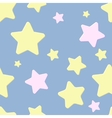 seamless pattern with night sky and stars vector image
