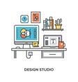 design studio concept vector image