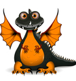 funny black dragon vector image