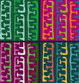 hand drawn ethnic seamless patterns vector image