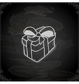 Hand Drawn Gift vector image