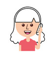 happy girl talking on the phone vector image
