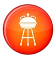 Kettle barbecue icon flat style vector image