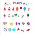 Party icon vector image