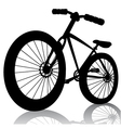 silhouette bicycle vector image