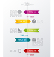 timeline vector image