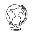 Globe icon Outlined vector image