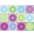 pattern with patches and buttons vector image vector image
