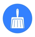 Dustpan black icon for web and vector image