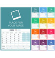 spanish calendar 2018 vector image