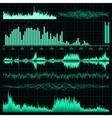 Sound waves set Music background EPS 10 vector image vector image