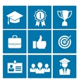 Business career icons vector image vector image