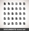 Documents Icon Set vector image vector image