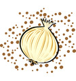 yellow onion vector image vector image