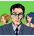 man chooses between two women relationships love vector image