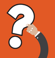 Question Mark In Hand vector image