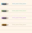 Stylized pencil design for infographics business vector image