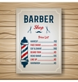 Barber Colored Price vector image