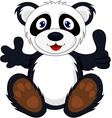 baby panda with thumb up vector image