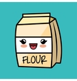 cartoon flour cokking kitchen icon vector image
