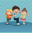 happy children day group of happy running kids vector image