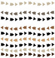 triangle garland pattern vector image