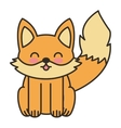 cute fox animal tender isolated icon vector image