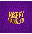 Halloween card with modern lettering style label vector image
