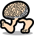 Walking brain vector image vector image