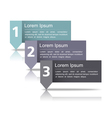 Design Template wth Three Elements vector image