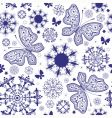 seamless white violet Christmas wallpaper vector image vector image