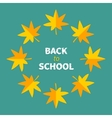 Autumn yellow maple leaf frame Back to school vector image