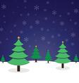 pine tree christmas vector image