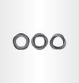 impossible looped black circle set vector image