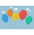 Flat style balloons infographic vector image