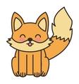 cute fox animal tender isolated icon vector image