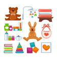 different adorable toys vector image