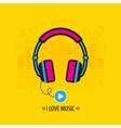 Flat headphones vector image