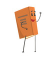 funny smiling book humanized cartoon character vector image