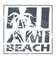 miami beach poster vector image