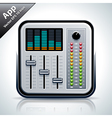 Mixer musical app icon vector image